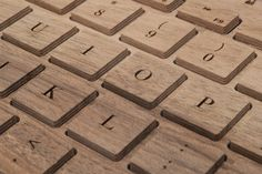 Handmade wooden bluetooth keyboard on Etsy. Wow, gorgeous.