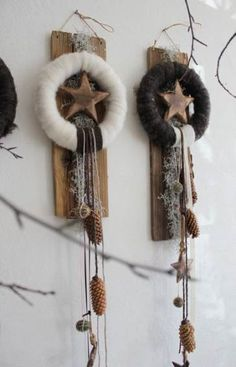 Nice home decorations for Christmas! Beautiful home decorations for Christmas! - Nice home decorations for Christmas! Nice home decorations for Christmas! Rustic Christmas, Christmas Home, Christmas Wreaths, Christmas Ornaments, Art Floral Noel, Diy And Crafts, Christmas Crafts, Navidad Diy, Advent Wreath