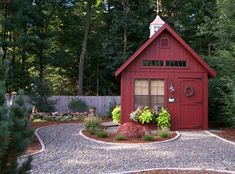 This 12' x 14' Garden Elite Shed delivered to West Simsbury, CT is huge motivation to clean out the flower beds and refresh the mulch. Shed Landscaping, Backyard Sheds, Outdoor Sheds, Backyard Studio, Shed Kits, Wooden Sheds, Big Garden, Green Garden, She Sheds