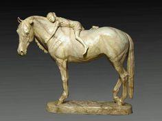 Jonathan Johnson Artwork Title: Morgan and Jennie, Sculpture Bronze. Contemporary artist  from Pryor Montana United States. Free Artist Portfolio Website - absolutearts.com