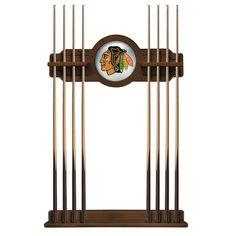 Chicago Blackhawks Eight Stick Pool Cue Rack - Chardonnay - $199.99