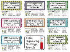 STEM Engineering Challenge Projects ~ TEN PACKS #1- #8  $