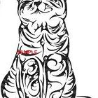 TRIBAL CAT SAT 1 CROSS STITCH CHART