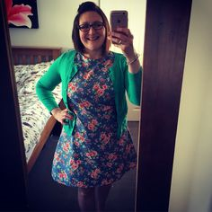 This is a Tilly and the Buttons Francoise dress in a pretty summery flowery…