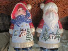 Santa & Mrs Claus - ceramics that I painted.