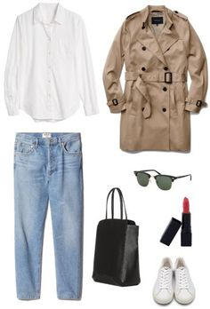 The Classic French Capsule Wardrobe - The Classic French Capsule Wardrobe – Emily Lightly // minimalism, simple style, slow fashion, minimalist outfit ideas Source by thorija - French Capsule Wardrobe, Classic Wardrobe, French Wardrobe Basics, Work Wardrobe, Trent Coat, How To Have Style, Simple Style, My Style, Curvy Style