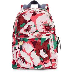 Draper James - Amaryllis Floral Backpack (1.826.660 VND) ❤ liked on Polyvore featuring bags, backpacks, knapsack bag, rucksack bags, floral rucksack, backpack bags and pink backpack
