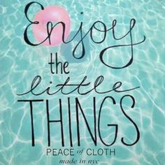Enjoy The Little Things :) #POC #POCNYC #Madeinnyc #quote #fashion