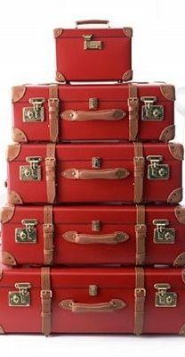 red luggage #wanderlust