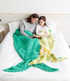Who doesn't want to be a mermaid? Check out these knit mermaid tail blankets - sizes available for both child and adult!