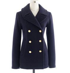 JCrew Navy Pea Coat