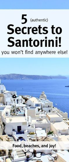 Revealing 5 Hidden Gems to Santorini (yes, there are still a few. : Five secrets to traveling to Santorini! Find food, beaches, and joy in this article! Europe Travel Tips, New Travel, European Travel, Places To Travel, Travel Destinations, Maldives Destinations, Travel Guides, Greece Vacation, Greece Travel
