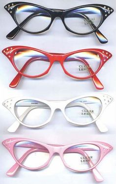 06ae046d5464 50s Style Rhinestone Cat s Eye Glasses