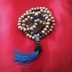 Rose wood prayer bead 108 prayer mala by TriquetraBoutique on Etsy