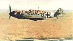 Bf 109 leopard camo of ace Werner Schroer. Third Reich Color Pictures.