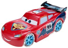 Disney/Pixar Cars Ice Racers Large Lightning McQueen Vehicle (1:24 Scale) #Mattel