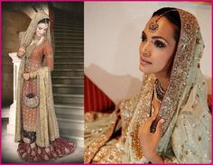 Amina Sheikh in Bunto Kazmi, Pakistani bridal