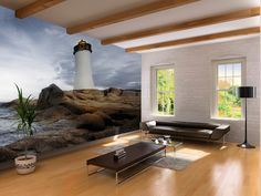 Sardinia Lighthouse - Wall mural, Wallpaper, Photowall, Home decor, Fototapet