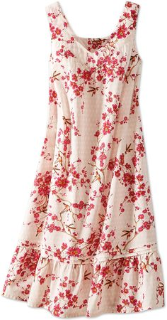 The Ella Simone Hummingbird and Cherry Blossom Print Nightgown is inspired by a colorful century print. Casual Dresses, Fashion Dresses, Summer Dresses, Hijab Fashion Summer, Hijab Stile, Night Dress For Women, Nightgowns For Women, Sleepwear Women, Night Gown