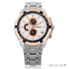 Armbanduhr Multi Star Edelstahl Silber Rosegold