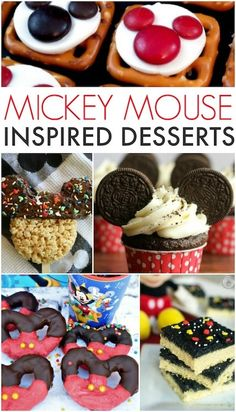 Fun desserts inspired by Mickey Mouse! These Disney desserts are perfect for you… Fun desserts inspired by Mickey Mouse! These Disney desserts are perfect for your Disney birthday party or get together. Disney Desserts, Disney Party Foods, Mickey Mouse Desserts, Mickey Mouse Treats, Mickey Mouse Cupcakes, Disney Snacks, Fun Desserts, Dessert Recipes, Disney Parties