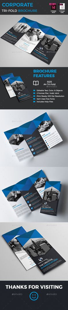 Corporate Tri-Fold Brochure Template InDesign INDD. Download here: http://graphicriver.net/item/corporate-trifold-brochure/16827371?ref=ksioks