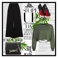 """""""Untitled #119"""" by bloomjovana ❤ liked on Polyvore featuring Christian Louboutin, WithChic, River Island, Tod's and Oris"""