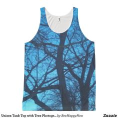 Unisex Tank Top with Tree Photography All-Over Print Tank Top