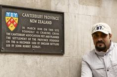 The plaque of Canterbury in London.