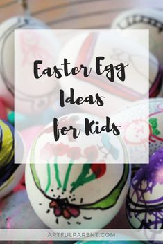Try these fun Easter egg ideas for kids. Use the egg as a mini canvas and draw frames & artwork on them. Then dye with Kool-Aid or your favorite egg dye kit. Kids Painting Activities, Easter Activities, Painting For Kids, Drawing For Kids, Art For Kids, Spring Nature Table, Easter Arts And Crafts, Bunny Drawing, Drawing Frames
