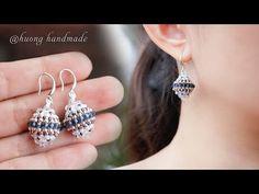 Beaded Earrings Patterns, Crochet Beaded Bracelets, Bead Earrings, Handmade Wire Jewelry, Handmade Beads, Earrings Handmade, Bead Jewellery, Beaded Jewelry, Beaded Bead