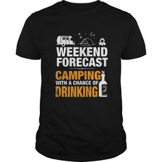 (Top Tshirt Fashion) LTD WEEKEND FORECAST CAMPING [Tshirt design] Hoodies, Tee Shirts