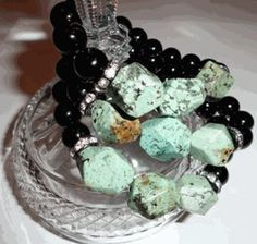 My Fav RLT Collection Bracelet for Winter Onyx & African Turquoise
