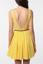 Pins & Needles Backless Lace Dress - You know I love this!