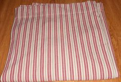 Pottery Barn Red Stripe ticking Shower Curtain Bath Striped 72 x 72 #PotteryBarn #Traditional