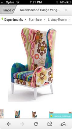 Found it at Wayfair Australia - Kaleidoscope Wing Chair Phil Bee Interiors Wing Chair, Furniture Deals, Occasional Chairs, Living Room Chairs, Wingback Chair, Furniture Design, Furniture Chairs, Upholstered Furniture, White Furniture