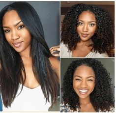 The Beauty Of Natural Hair - from short & curly to long & straight (no weave needed)