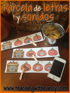 Fall Pumpkin themed PreK and kindergarten stations in Spanish! These are perfect for beginning of year 1st in dual language!