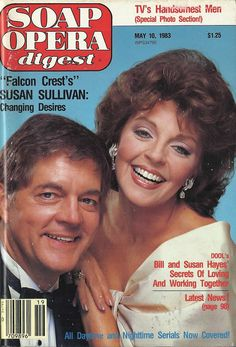 Bill Hayes & Susan Seaforth Hayes (Doug & Julie #DAYS) 5/10/83 http://classicsodcovers.tumblr.com/