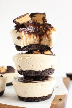 No Bake Vegan Peanut Butter Cup Cheesecakes | 27 Insanely Delicious Recipes You Won't Believe Are Vegan