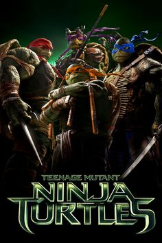 Teenage Mutant Ninja Turtles - movie poster- I loved this cartoon series as a child- I watched all of the old movies as a child also- I didn't like their digital versions but the movie was altogether true to the Ninja Turtle franchise...