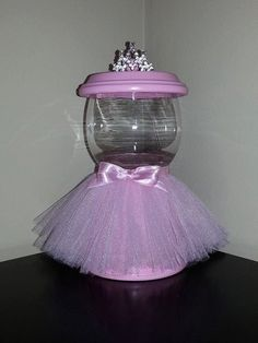 Pink Princess Faux Gumball Machine