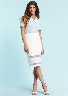 MOON Sheer Block Skirt $49.99