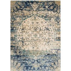 Hilary Blue/Ivory Area Rug