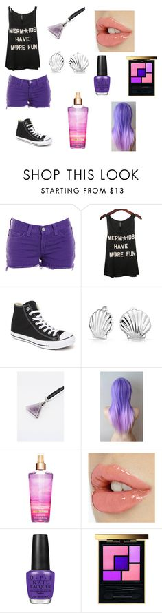 """""""MERMAIDS!"""" by minion-oreos ❤ liked on Polyvore featuring J Brand, Converse, Bling Jewelry, OPI and Yves Saint Laurent"""
