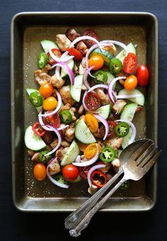 Crispy Chicken & Cucumber Salad with Dijon Vinaigrette | Climbing Grier Mountain