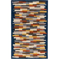 Dot & Bo Delineations Rug ($98) ❤ liked on Polyvore featuring home, rugs, wool area rugs and wool rugs