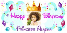 Princess Birthday Banner, Personalized. Only $25