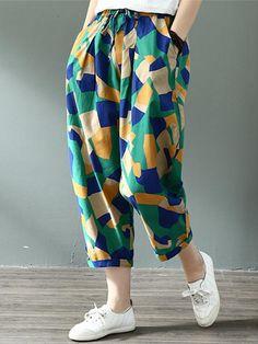 Lulu Prisma Cotton & Linen Pants - Lulu Prisma Cotton Best Picture For vsco outfits - Cropped Linen Trousers, Linen Pants Women, Pants For Women, Clothes For Women, Kurta Designs Women, Blouse Designs, Fashion Pants, Look Fashion, Pantalon Large