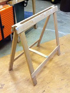 very simple folding sawhorses